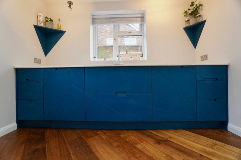Blue valchromat kitchen