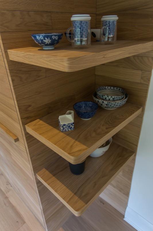 Floating shelves, oak shelves
