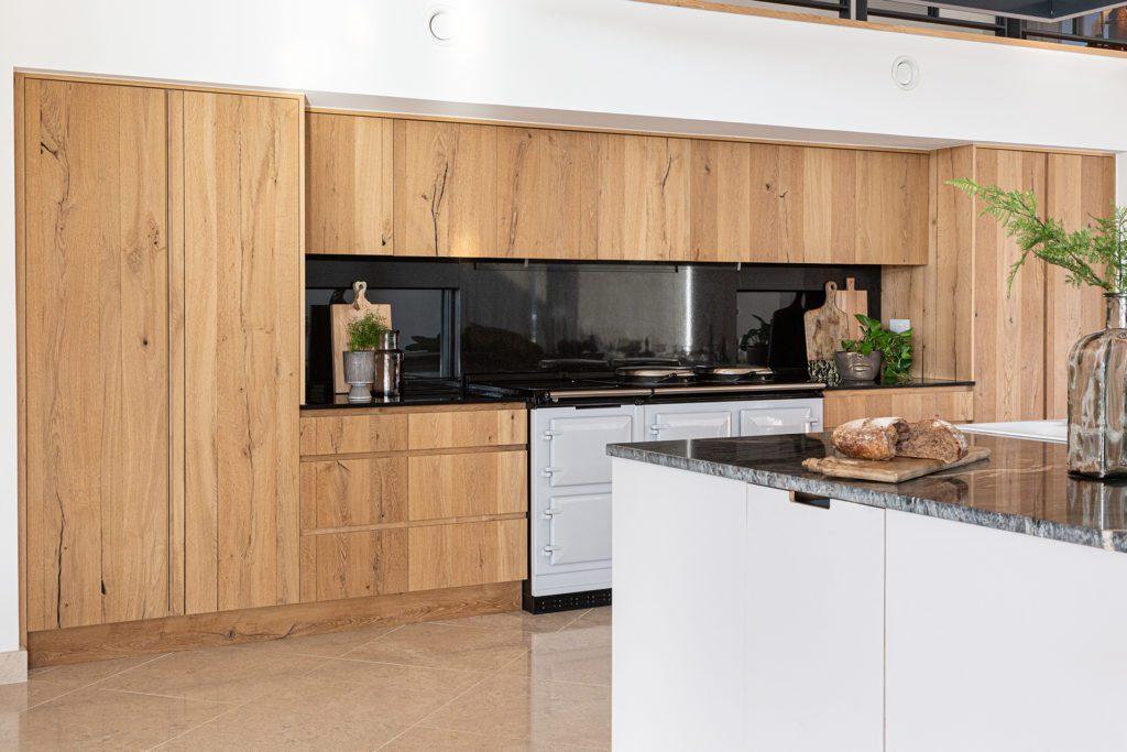 Large vintage oak kitchen