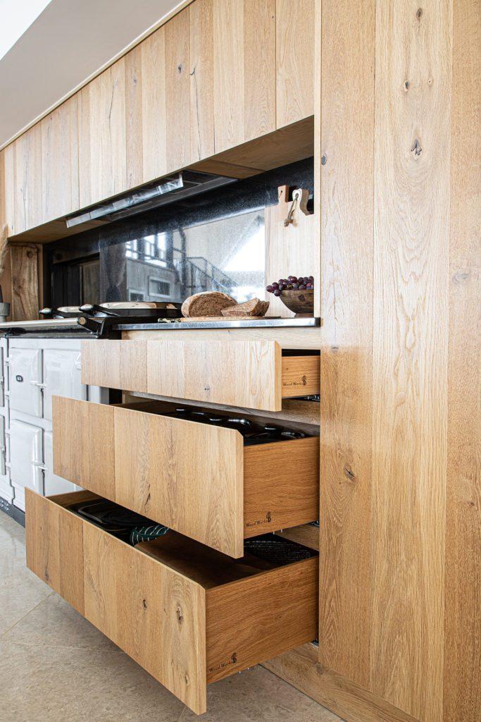 Oak dovetail drawers