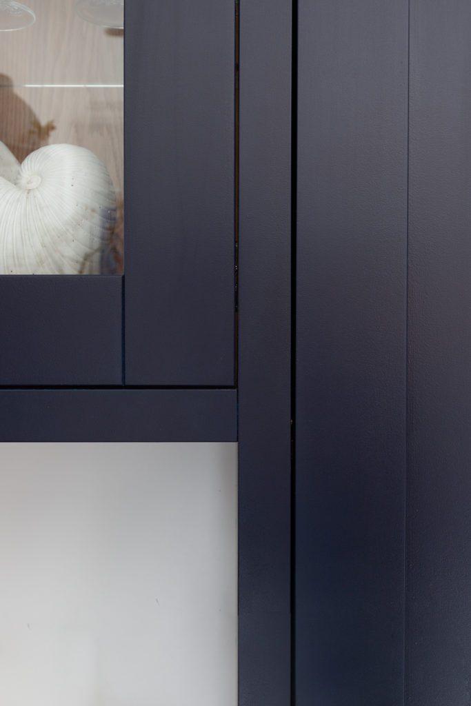 deep blue shaker doors