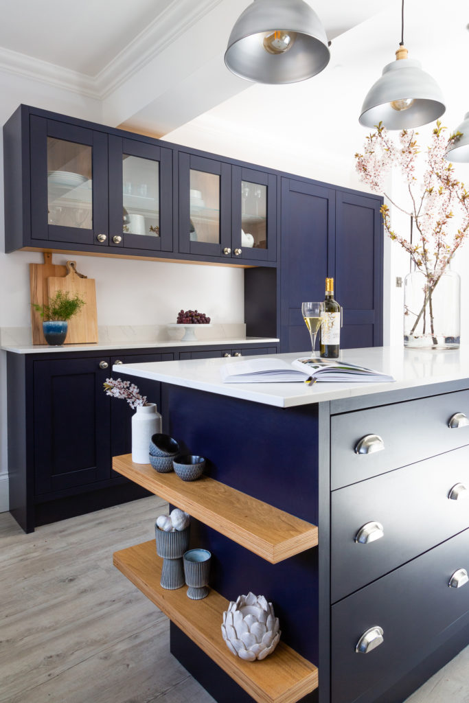 modern in frame shaker kitchen-modern in frame island