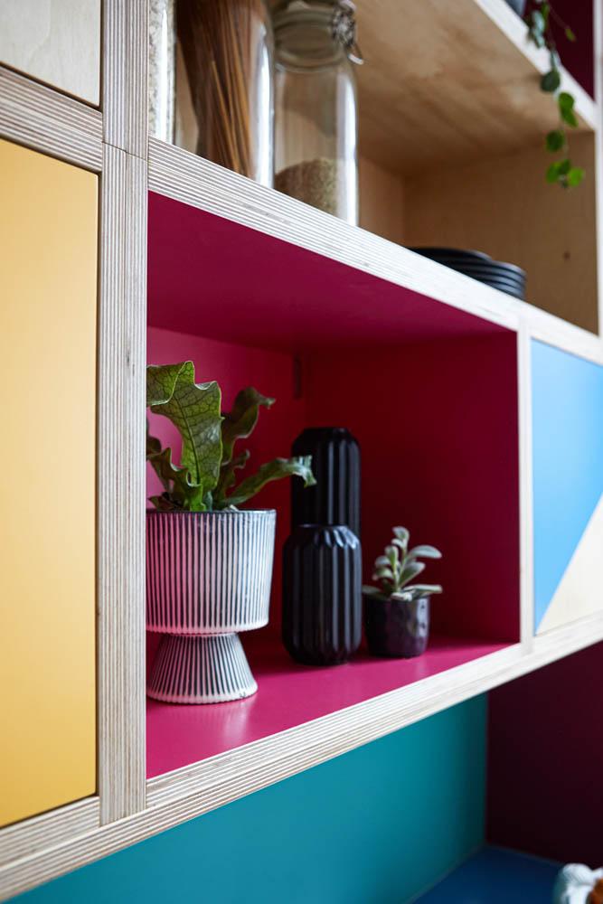 Bespoke kitchen open shelves