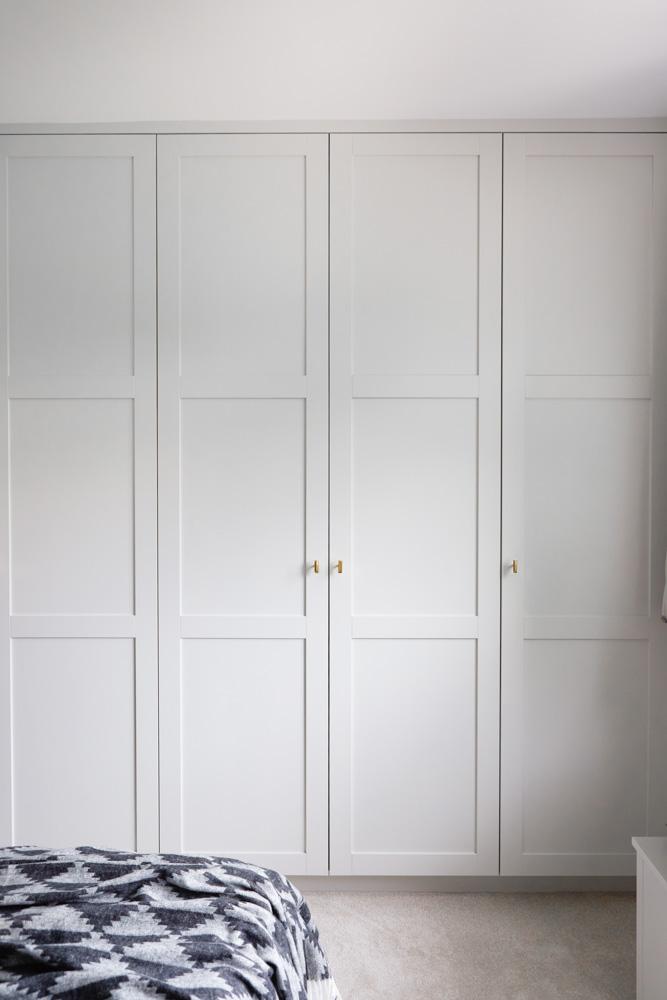 Paneled shaker wardrobe